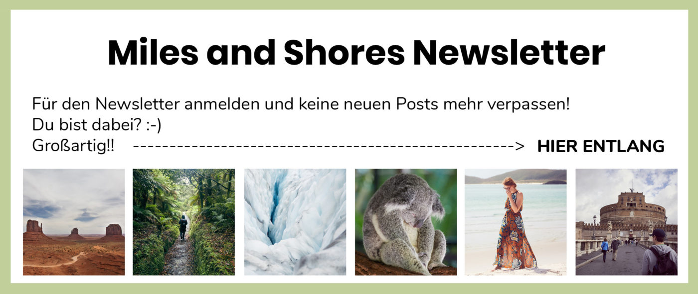 newsletter, signup, miles and shores, reiseblog, travelblog