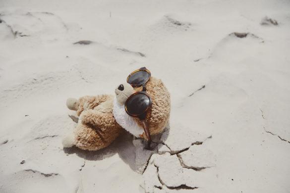 Ed, das Erdmännchen, Ed in Australien, Maskottchen, Reise, Reisemaskottchen, Miles and Shores, Australien, Whitehaven Beach, Australia, Sonne, Strand
