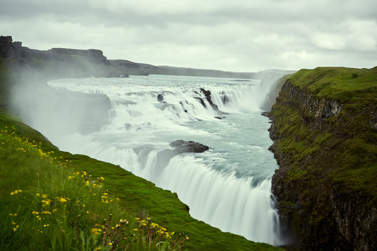 Gulfoss, Wasserfall, waterfall, Island, iceland, langzeitbelichtung, long exposure, roadtrip, reise, rundreise, ringstraße, must see