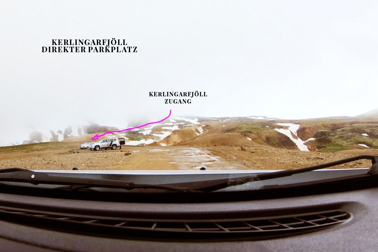 Kerlingarfjöll Vorbereitung, Straße nach Kerlingarfjöll, Landmannalaugur, Abzweigung, Route, Roadtrip, Island, Iceland, Parkplatz