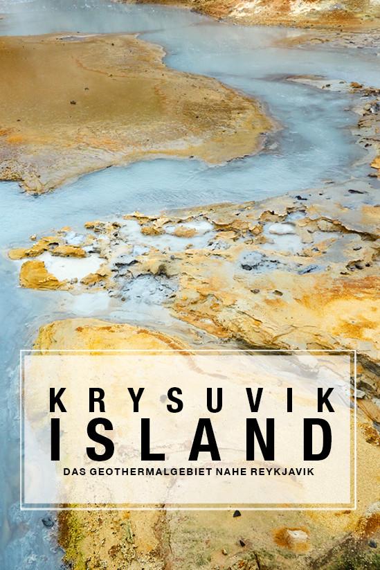 Krysuvik, Geothermalgebiet, geothermal area, Island, Iceland, buntes Gestein, Schwefelgestein, Roadtrip, Rundreise, Reiseblogger, Travelblogger, Miles and Shores, vulkanisch, pin, pin it