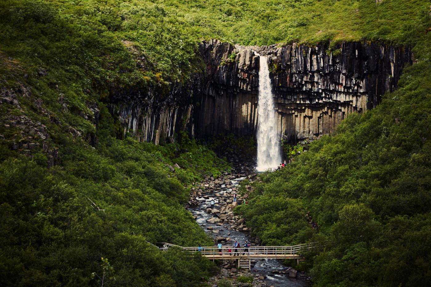 svartifoss, wasserfall, waterfall, iceland, island, roadtrip, rundreise, must see, bucketlist, miles and shores, blick von oben, reiseblog, reiseblogger, travelblog