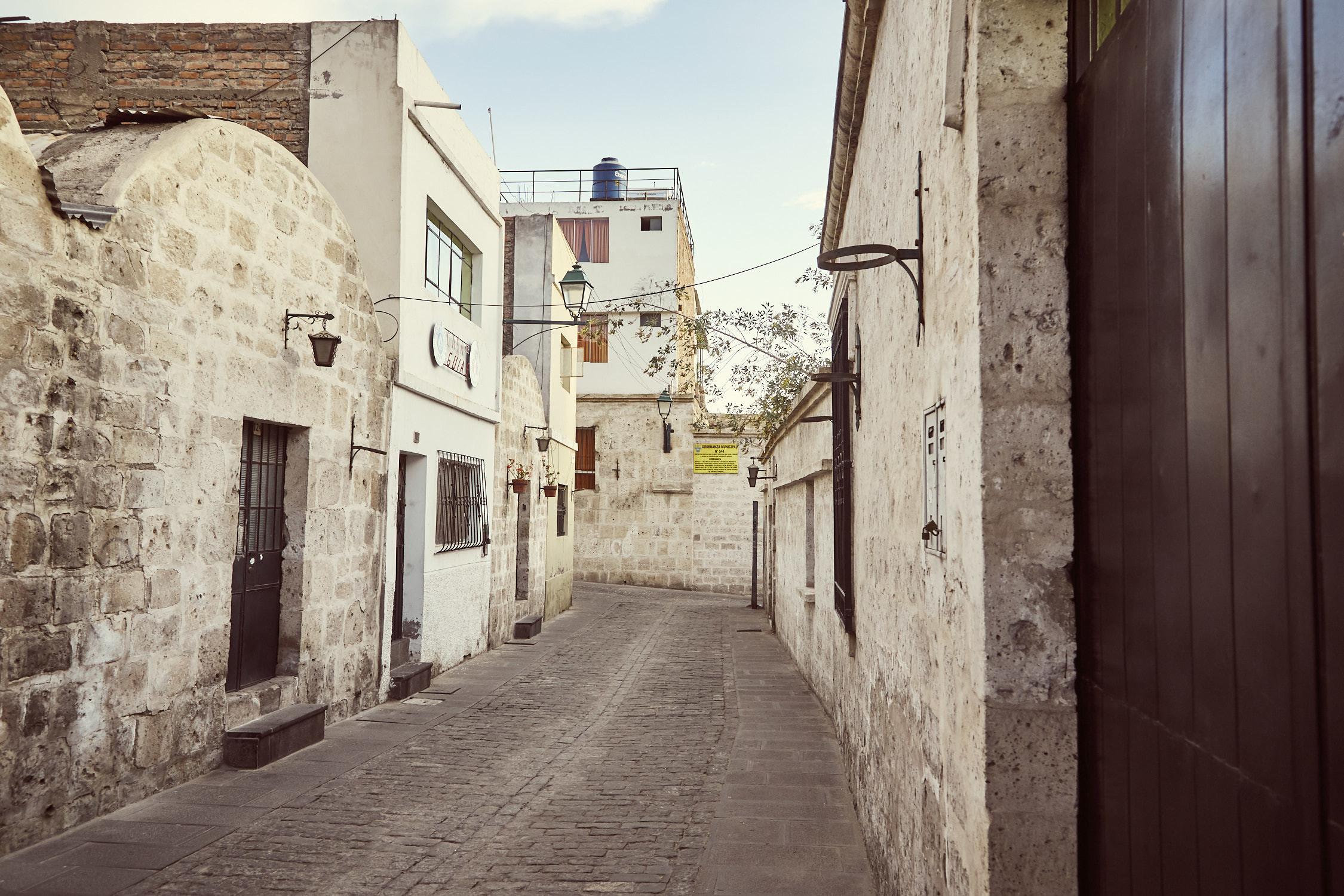 Das Viertel San Lazaro ist eines der ältesten Viertel der Stadt Arequipa in Peru
