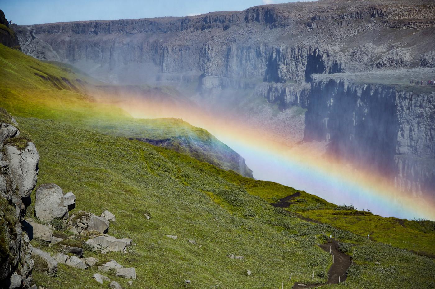 Regenbogen beim Dettifoss Wassefall
