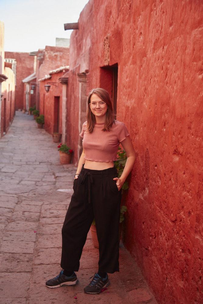 Christina von Miles and Shores im Kloster Santa Catalina in Arequipa
