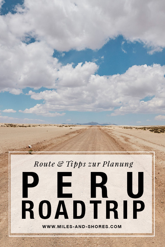 Es geht nach Peru! Darum musste auch die ultimative Peru Roadtrip Route gefunden werden! Die gesamte Route & Tipps zur Planung deines Roadtrips findest du auf unserem Blog. Außerdem haben wir kurz zusammen gefasst, worauf du bei der Mietwagenbuchung acht geben solltest. Hier unterwegs im Nationalpark Salinas y Aguada Blanca, sandige Poste, tiefhängende Wolken