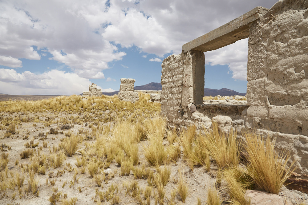 Nationalpark Salinas y Aguada Blanca, Ruinen in Steppenlandschaft