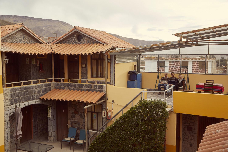 Unser Hotel in Chivay, zwei von unserer Gruppe hatten bereits mit der Höhe zu kämpfen