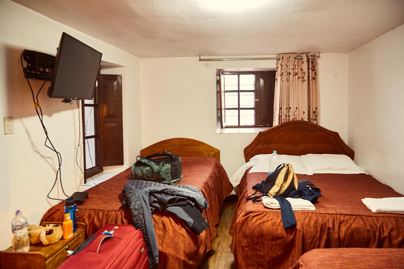 Eine einfache Unterkunft in Cusco, Peru
