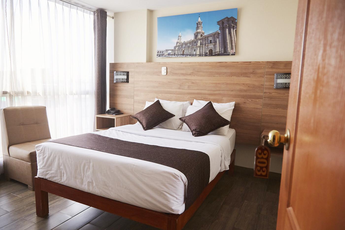 Unser Zimmer im Hotel Terramistico Monasterio in Arequipa Peru