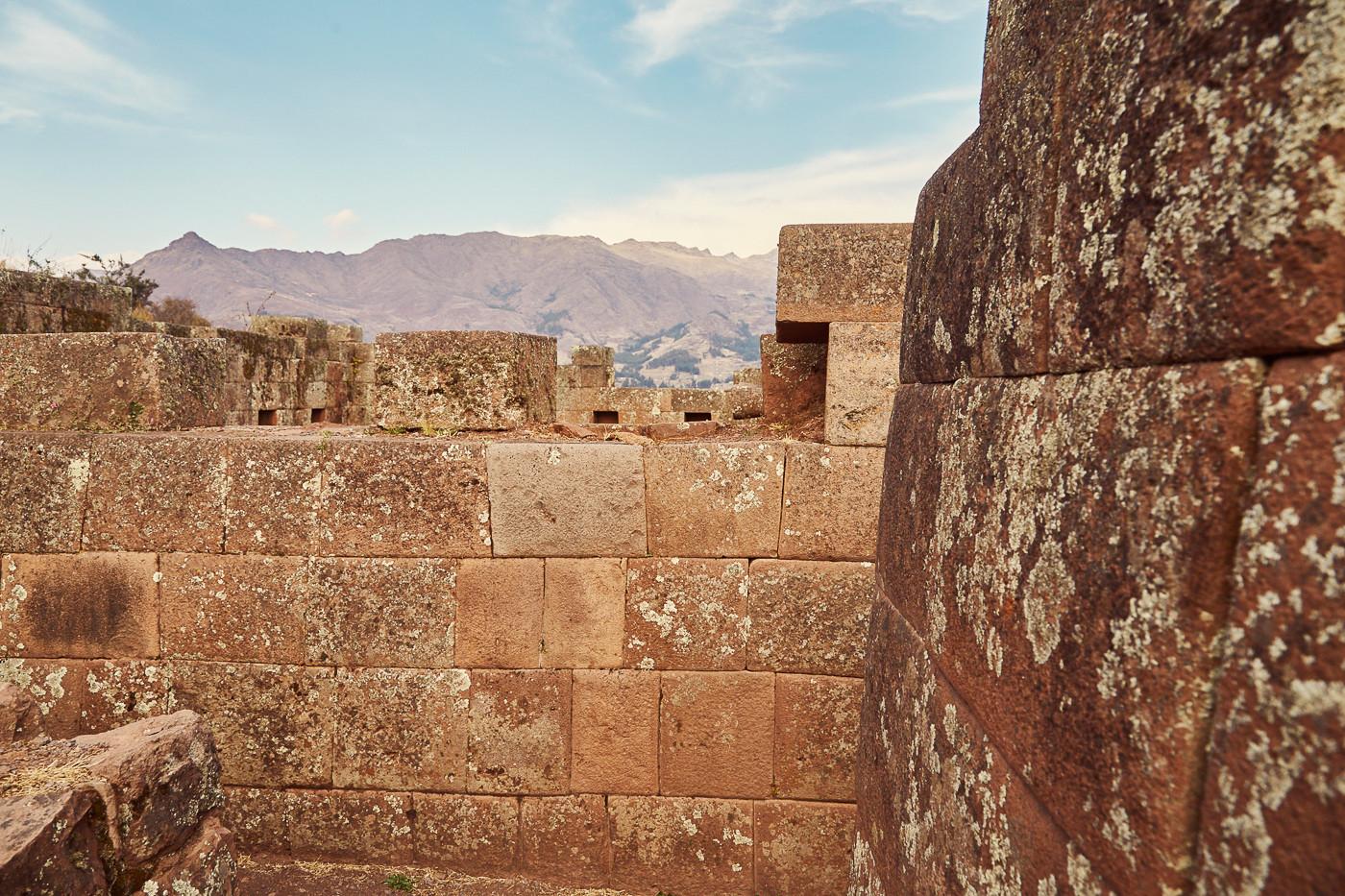 Die Inka Festung - Ruinen von Pisac in Peru