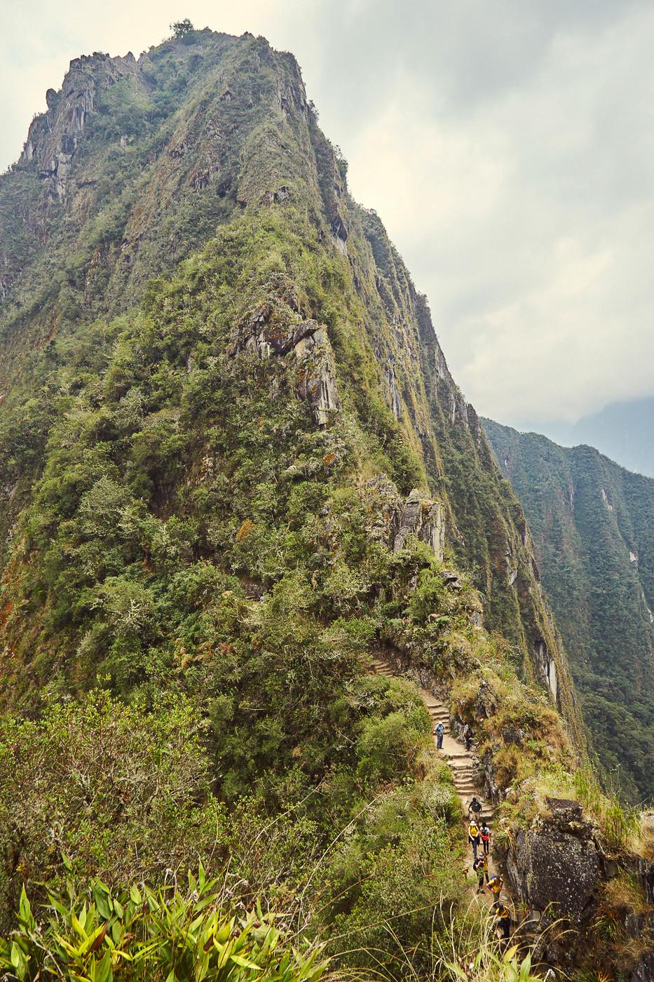 Der Huayna Picchu, schmal führt der Weg in Serpentinen voller Stufen den Berg hinauf. Trotz der Anstrengung werde ich diese Wanderung nie vergessen!