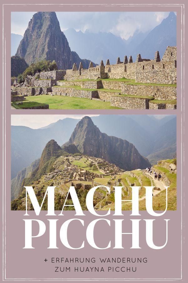 Unser Tag begann um 3:30 Nachts: Machu Picchu und die Wanderung zum Huayna Picchu standen auf dem Plan. Wir nahmen den ersten Zug nach Aguas Calientes. In Machu Picchu war ich erstmal überwältigt, aber nicht von den wunderschönen Ruinen, sondern wieder von den Touristen. Warum eine Tour zu einem der beiden Berge bei deinem Besuch in Machu Picchu stehen sollte und warum ich mich doch noch sehr gut mit der Inkastadt versöhnen konnte, findest du in unserem Erfahrungsbericht. #peru #reise