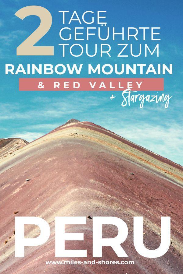 Wir haben eine geführte zweitägige Tour mit Kallpa Adventures zum Rainbow Mountain in Peru gemacht. Eine Wanderung durch das wunderschöne Red Valley und übernachten in einem Zelt auf 4700m Höhe mitten in den peruanischen Anden! Wahnsinn! Zudem haben wir eine sternenklare Nacht erwischt und konnten die Milchstraße mit bloßem Auge erkennen. Ein wahres Highlight in unserem Peru Urlaub! #peru #rainbowmountains #perureise #reise #vinicunca #redvalley #travel #beautifulplaces #urlaub