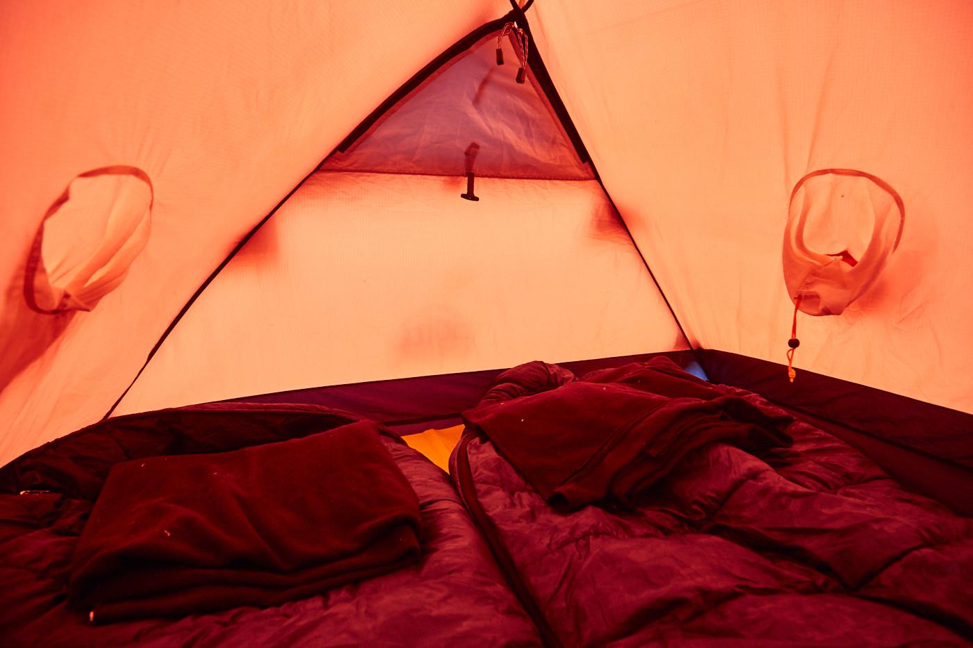 Wir schliefen in unseren 2er Zelten auf 4700m Höhe in den peruanischen Anden - ein richtiges Abenteuer