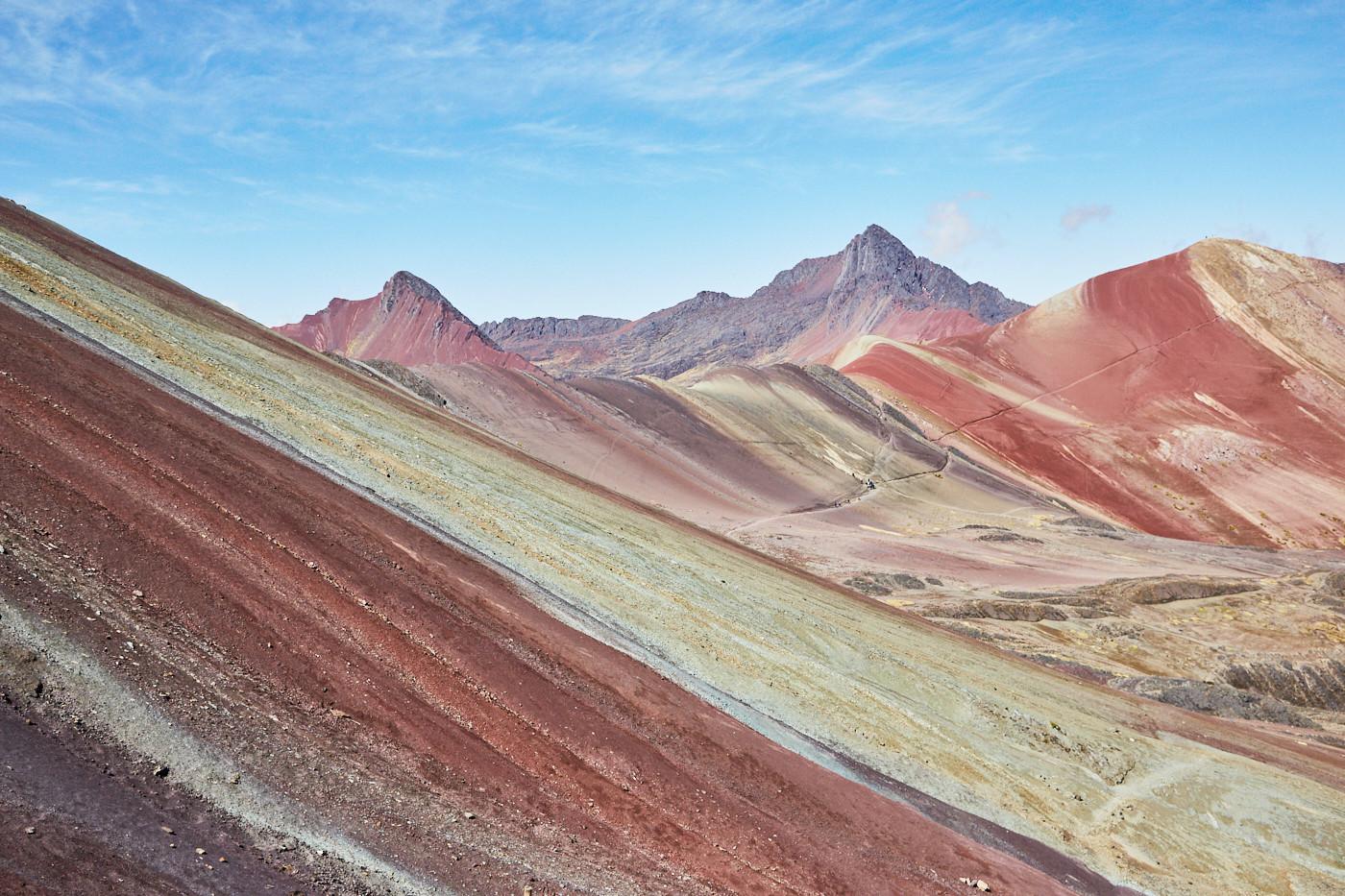 Der Rainbow Mountain und das Red Valley in Peru