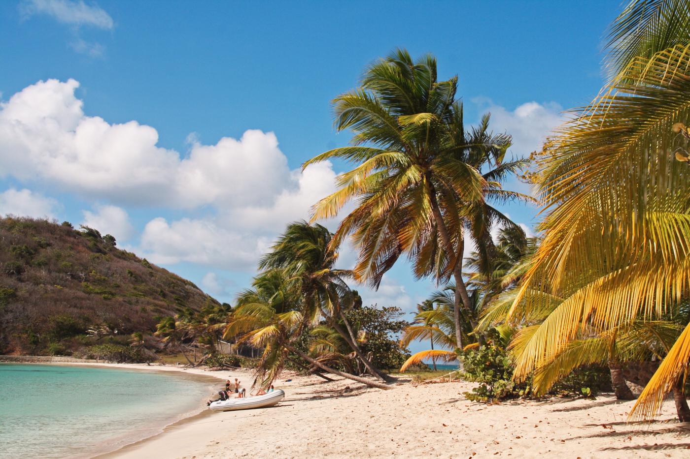 Definitiv eines unserer 5 verrücktesten Reisemomente: Als wir eine Schiffsschraube in der Karibik verloren haben. Plötzlich saßen wir in der wunderschönen Saltwhistle Bay fest