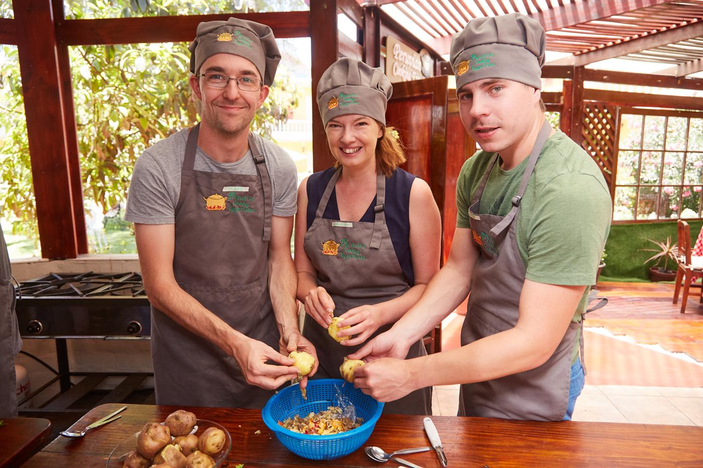 Peruanisch Kochen mit Ronnie, Christina & Roli in Arequipa